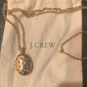 Gold locket from J Crew with 'diamond' detail!